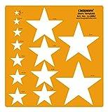 Linograph Sterne Muster Design Schablone Handwerk Zeichnung Formen Schablone