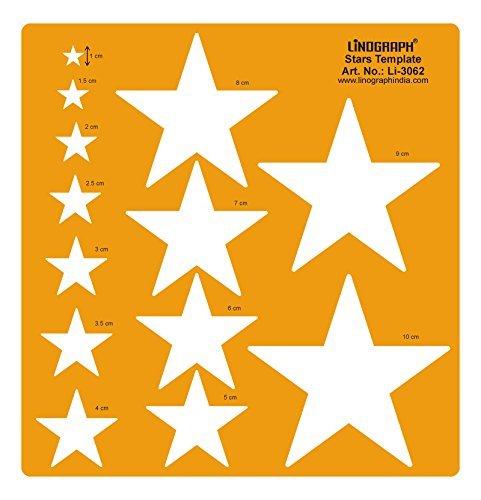 Linograph Sterne Muster Design Schablone Handwerk Zeichnung Formen Schablone - Stern-schablonen