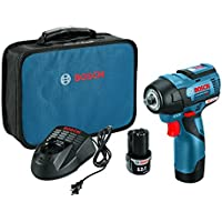 Bosch PS82-02 Volt Max EC Brushless 3/8-Inch Impact Wrench Kit, 24 W, 12 V