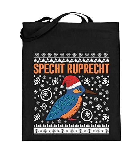 Chorchester Specht Für Ornitologen und Vogel Fans - Jutebeutel (mit langen Henkeln)