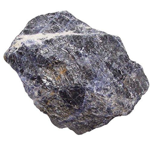 Preisvergleich Produktbild Sodalith XL Rohstück Rohstein blau weiße Maserung ca. 500 - 700 Gramm.(3713)