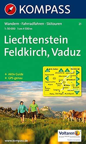 Liechtenstein, Feldkirch, Vaduz: Wandern / Rad / Skitouren. 1:50.000