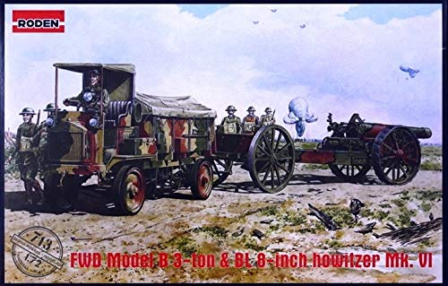 Roden 713-Maqueta de FWD 713B 3Ton & BL de 8Inch Howitz ermkvi