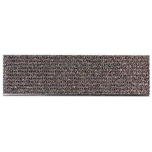 etm Stufenmatten außen   Treppen Rutschschutz mit Alu-Schiene   Antirutschmatten mit patentierter PVC-Granulat-Schicht   2 Farben & Größen (braun, 24 x 80 cm)