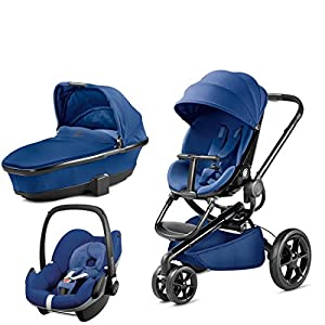 Quinny Moodd with Carrycot Blue Base and Pebble Blue Base   14