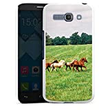 DeinDesign Alcatel One Touch Pop C9 Hülle Schutz Hard Case Cover Wilde Pferde Mustang Pferd Stute Horse