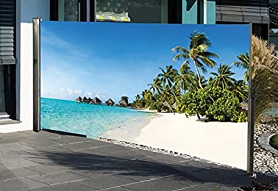 Seitenmarkise mit Fotodruck SÜDSEE, Sichtschutz, Windschutz von HTI-Living bei Gartenmöbel von Du und Dein Garten