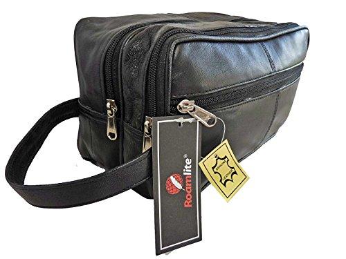 Weiches Original Leder Kosmetik Waschzeug Tasche Reise Sport Fitness Tasche Roamlite RL215