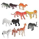 Lot de 12pcs Figurine Animal Sauvage en Plastique Modèle Jouet ...