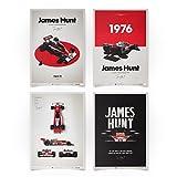 McLaren M23 - James Hunt - Set - Unique Design Limited Edition Posters - Standard Poster Size 19 ¾ x 27 ½ Inch