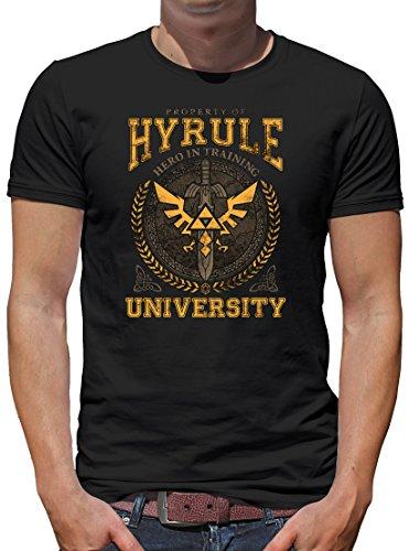 TLM Hyrule University T-Shirt Herren M Schwarz (Billig Gohan Kostüm)