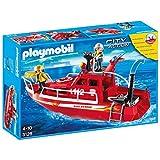 Playmobil - 3128 - Pompiers - Pompiers sauveteurs / Bateau