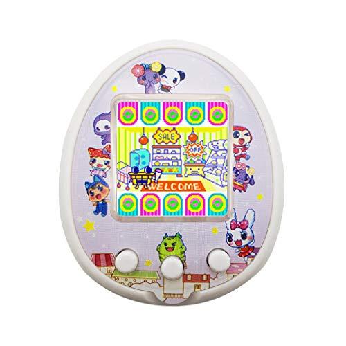 Virtuelle Pet Game Machine Toy,JSxhisxnuid Tamagotchi Electronic Mini Pet Child Virtual Digital Pet Spielautomat mit LED für Kid Weihnachtsgeburtstag Überraschung für Jungen und Mädchen Geschenk(Weiß) (Wie Zu Spielen The Hunger Games Aus)