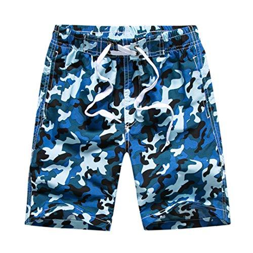 BBOKKUES 8-14 Jahre Alter Junge Badebekleidung Boardshorts Junge Männer Badeanzug Surfen Badehose Beachwear Boy Blue M