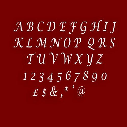 (Mirrors-Interiors Einfach zu Stick Stylischer Alphabet/Buchstabe Acryl Spiegel Effekt Plaque (5cm), Um Einen Namen/Namensschild * * Januar Verkauf * *, Letter M)