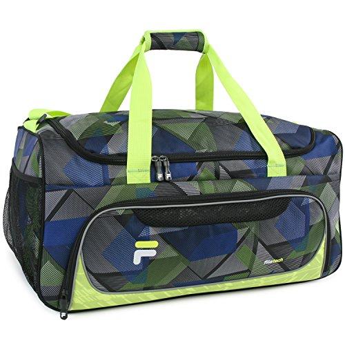 Fila FL-SD-7922 - Bolsa de Viaje Adulto Unisex, Color Abstract Neon, tamaño Talla única