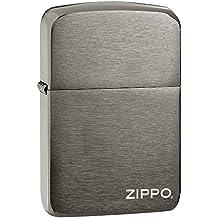 Zippo 1160006 Nr. 24096 1941 Black Ice w/ Zippo - Mechero con logo