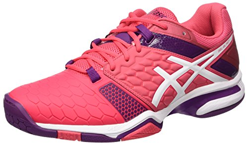 ASICS Damen Gel-Blast 7 Handballschuhe, Rot (Rouge Red/White/Prune), 42.5 EU