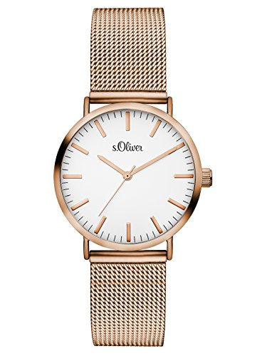 S.Oliver Damen Analog Quarz Armbanduhr SO-3272-MQ