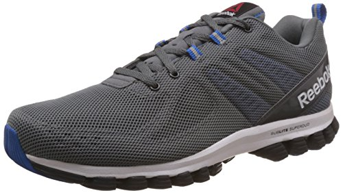 Reebok Sublite Super Duo 2.0, Chaussures de Running Entrainement Homme Gris / Azul / Blanco / Negro (Alloy/Coal/Blue Sport/White/Black)