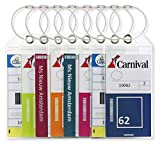 Cruise Luggage Tag Holders Large with Zip Seal & Steel Loops (8 Pack) - Carnival - Princess Cruises - P&0 - MSC Cruise
