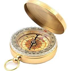 Meta-U Portable Brass Pocket Watch Style Camping Compass