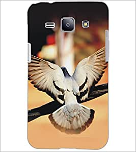 PrintDhaba Piegon D-5153 Back Case Cover for SAMSUNG GALAXY J1 (Multi-Coloured)