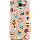 JAMMYLIZARD | Zuckersüße Cupcakes Back Cover Hülle mit Muster für Samsung Galaxy S5 / S5 Neo, ERDNUSSBUTTER