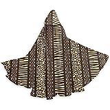 Photo de Africain Safari Peau d'animal Tunique à Capuche Chevalier Halloween Costume de Robe de Noël, 59 Pouces (150,40 cm) par Like Moon Halloween Cloak