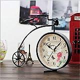 CWLLWC tischuhr standuhr,Kaminuhr Kreative Eisen Uhr Schlafzimmer/Wohnzimmer hat die alte Uhr Dekorationen Ornamente 31,5 * 8 * 25 cm