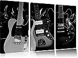 Best guitare électrique pas cher - guitares électriques élégantes Toile, 3 pièces 120x80 sur Review