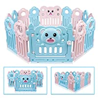 """Besrey Large Playpen for Babies 14 Panels Activity Center, Baby Playpen Indoor Safety Baby Fence with 3 Shapes, No""""Dangerous Gaps"""""""