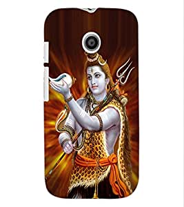 ColourCraft Lord Shiva Design Back Case Cover for MOTOROLA MOTO E