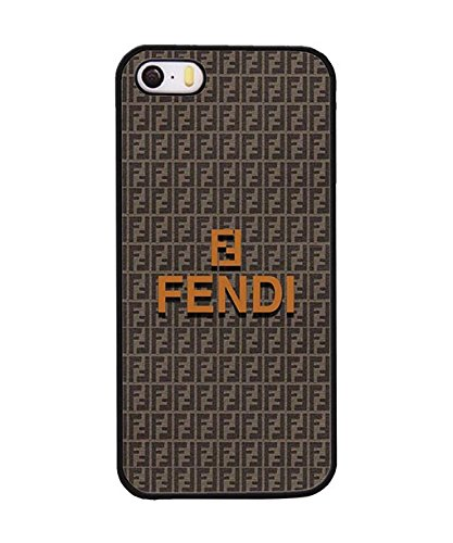 Iphone 5 / 5s Custodia Case, Brand Logo Fendi Premium Extra Slim Dust Proof Plastic Shell Custodia Case twoe-035