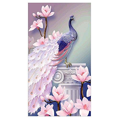 La Cabina Paon 5D Peinture en Diamant DIY Point de Croix en Résine Artisanat Kit Broderie Diamant Mignon Décoration de Maison Salon Chambre