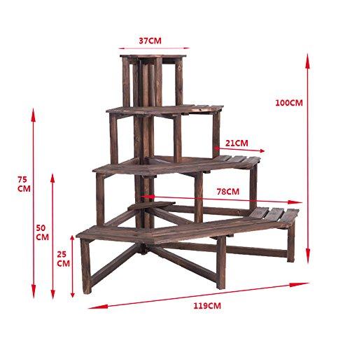 webo home- Leiter Keilrahmen aus Holz massiv Äußerer Rahmen Ecke Coating)–Regal 119*100cm