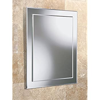 50 x 70cm plain frameless bathroom rectangle mirror with 11029