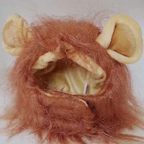Haustierkostüm Löwenmähne Perücke für Hunde und Katzen, Halloween-Kostüm -