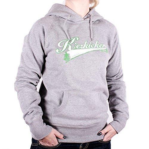 Hoodie Damen Kleeblatt von Kiezkicker in Grau Grau
