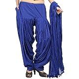 #10: Etone Women's Regular Fit Cotton Patiala with Dupatta (P002RB, Royal Blue, Freesize)