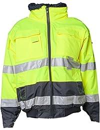 Planam Comfort-Jacke Warnschutz, Größe 4XL, gelb / marine, 2047068