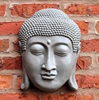 "Buddha Head Wall Hanging Thai Face Plaque Indoor Outdoor 33 cm 13."" by Home and Garden Products Ltd"