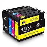 IKONG 932XL 933XL, Kompatibel für Druckerpatrone HP 932XL 933XL 932 XL 933 XL Multipack, Hohe Ausbeute, 4 Packungen, Arbeiten mit HP Officejet 6600 6700 7612 7610 7110 6100 Drucker