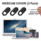 Cache Webcam ordinateur portable,GEARGO webcam cache glissière de protection webcam,0.76mm laptop webcam cover thin s'adapte aux Macboook Pro ,Mac Mini,iPod,iMac,Tablettes,iPad Smartphones,Ordinateurs Portables-(3 pièces)