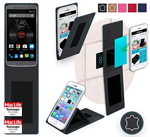 reboon Hülle für Elephone P8000 Tasche Cover Case Bumper | Schwarz Leder | Testsieger