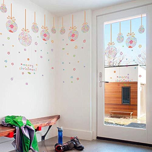 Wandaufkleber Wasserdicht Und Ölbeständig Aufkleber Können Selbstklebend Entfernt Werden Weihnachtskugeln Hängende Kugel Schlafzimmer Wohnzimmer Glasfenster Dekorative Wand Abnehmbar 60X90