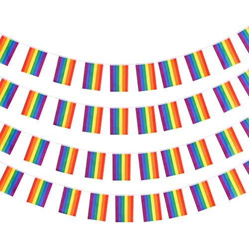 nbogen Flagge Banner LGBT Gay Regenbogenfahnen Rainbow Flag Stolz Parade Flagge für die Schwulenparade, Homosexuell Lesbian Party Deko ()
