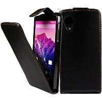 LG Nexus 5 Funda Caso - Negro PU Flip Funda Cuero Case Para LG Google Nexus 5 - thinkmobile