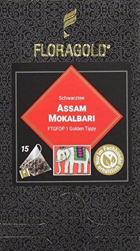"FLORAGOLD Pyramidenbeutel schwarzer Tee Assam""Mokalbari, 1er Pack (1 x 38 g)"