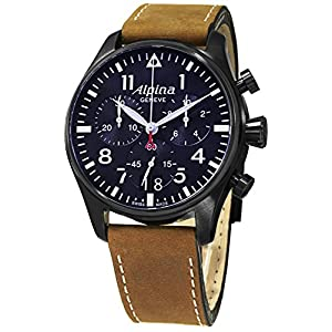 Alpina Vyrams Chronograph Quarz Laikrodis mit Leder Armband AL-372N4FBS6